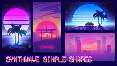 Synthwave Simple Shapes