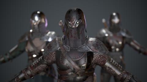 Medieval dark warrior