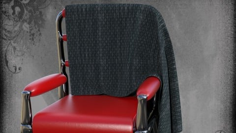 Chair with plaid for DAZ Studio
