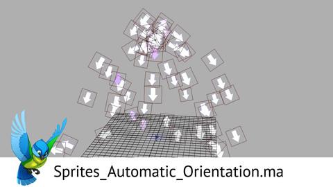 Maya nParticle Sprites Orientation Preset