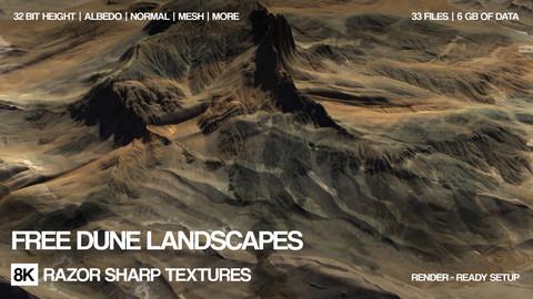Free 8K Dune landscapes | 32 bit