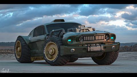 Cyberpunk Mustang