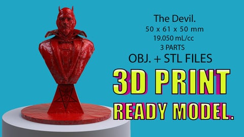 The Devil. (3D Printable Model)