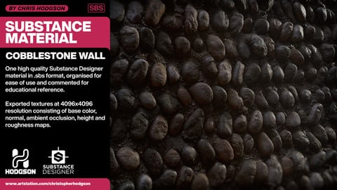 Substance Material - Cobblestone Wall