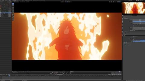 Blender Anime Fire Pack 4K
