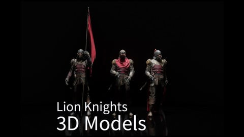 Lion Knights 3D Models