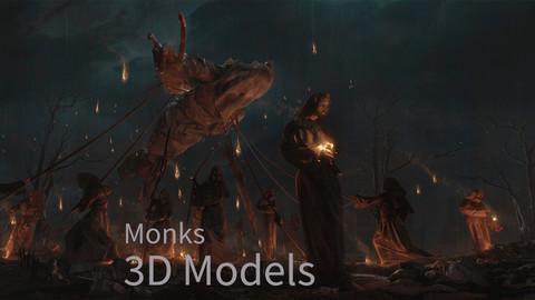 Monk 3D Models