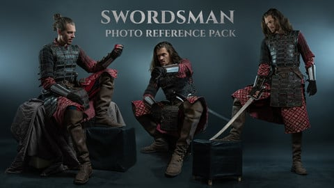 Swordsman Photo Reference Pack 330 JPEGs