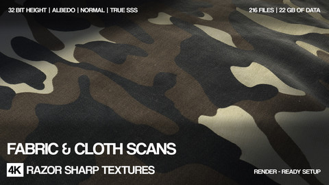 Fabric and cloth scans pack