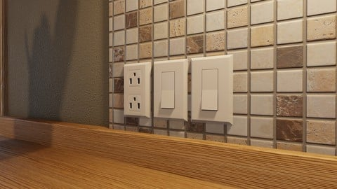 Free Wall outlets and switches pack