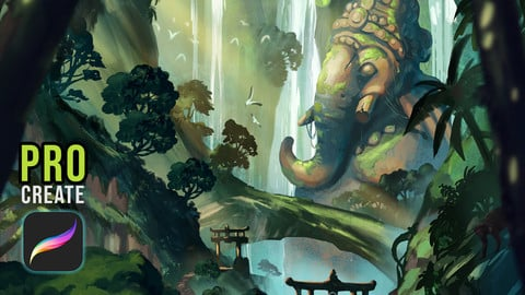 Steps to Ganesha (Procreate & Photshop Files, 2 Videos, 1 Full Res. Image, 1 GIF, Info on Brushes)