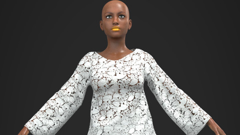 LACE_MATT 3D African Design Ready To Use In Your Project - Marvelous Designer / Clo3d project + Cinema 4D + FBX + Materials