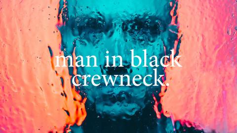 man in black crew neck photo reference pack