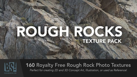160 Rough Rock Photo Textures - Royalty Free