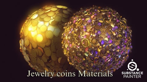 Jewelry coins Materials