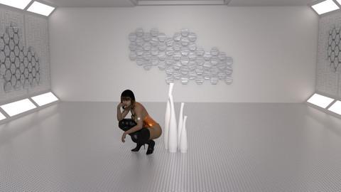 White Room Posing