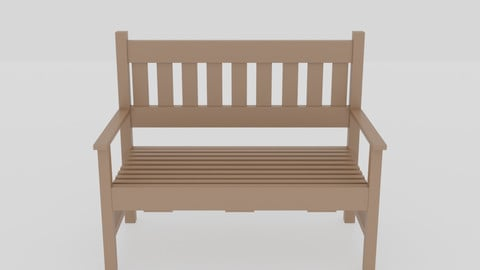 Terrace Wooden Bench