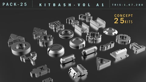 Kitbash Set Vol-1(25-Kits)