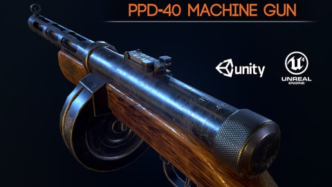 PPD40 soviet ww2 machine gun