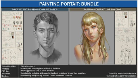 Painting portrait: Bundle