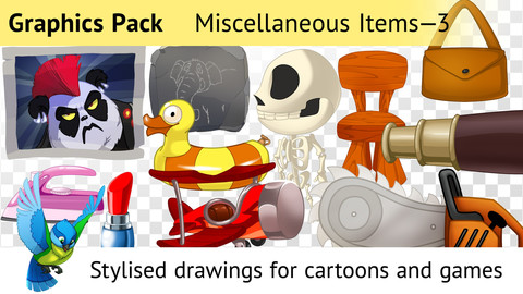 Graphics Pack 3—85 Drawings for Cartoons and Games
