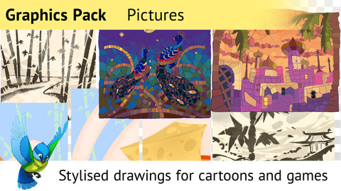 Graphics Pack 3—Mini-pictures for Cartoons and Games