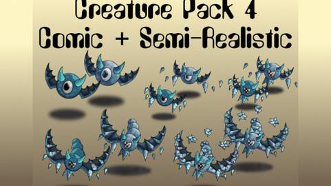 Creature Pack 4 Comic + Semi-Realistic
