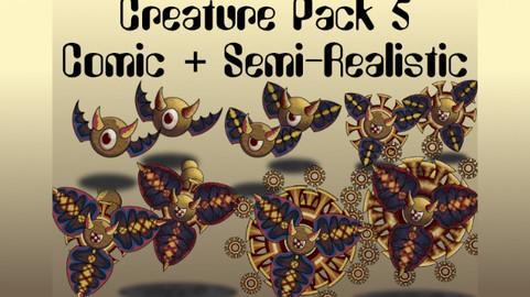 Creature Pack 5 Comic + Semi-Realistic