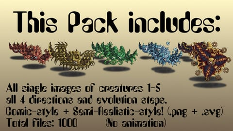 Monster Battler Pack Creatures 1-5