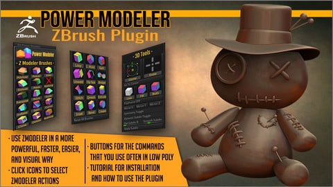 Power Modeler ZBrush Plugin