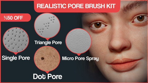 Realistic Skin Details With Pore Brush Kit