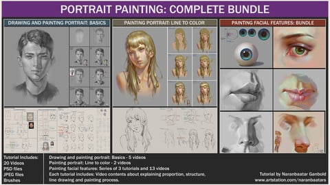 PORTRAIT PAINTING: COMPLETE BUNDLE