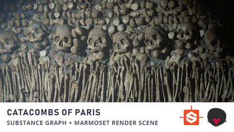 Paris Catacombs Substance Material + Marmoset Render Scene