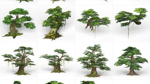 Game Ready Fantasy Tree Collection