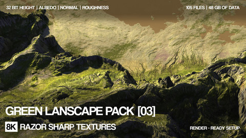 15 x 8K Green landscapes pack | 03 | PBR