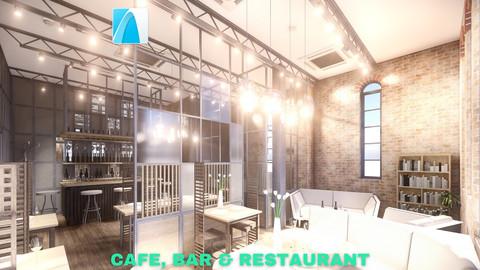 Intimate Cafe, Bar & Restaurant Scene - Archicad