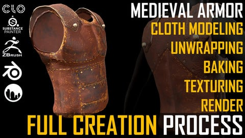 Tutorial. Medieval Armor Full Creation Process.