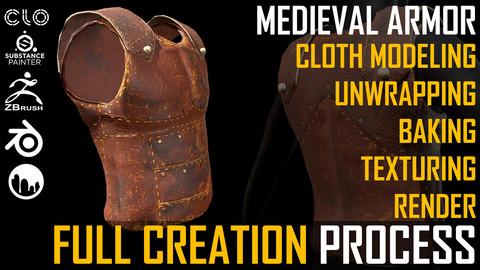 TUTORIAL. Medieval Armor Full Creation Process.