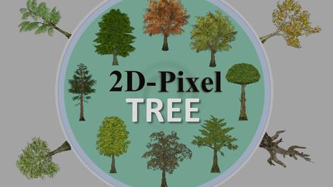MindEst - 2D Pixel Tree Asset Pack
