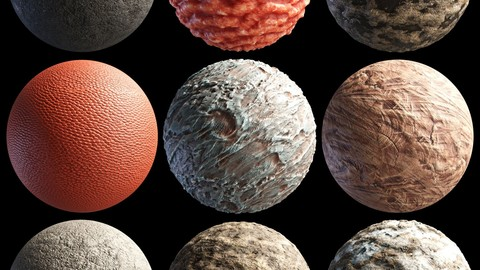 library of high quality PBR materials for 3