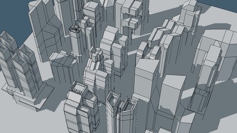 Futuristic architecture set 16