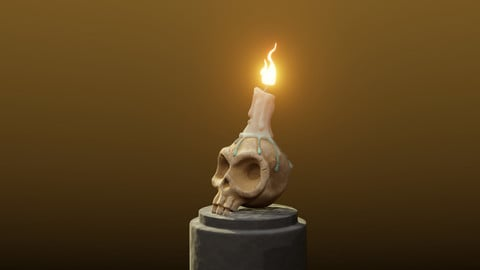 Stylized Skull Halloween Special Environment Prop