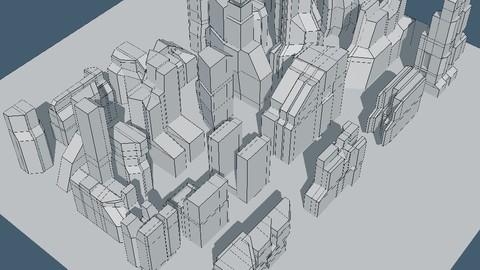 Futuristic architecture set 15