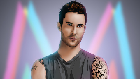 Adam Levine (maroon 5) Vector Portrait