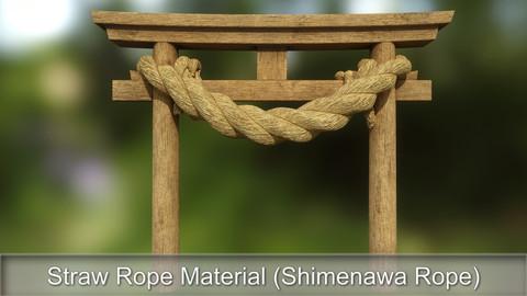 Straw Rope Material (Shimenawa Rope)