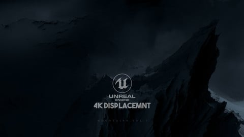 Unreal Engine 4K Mountains Displacement Map