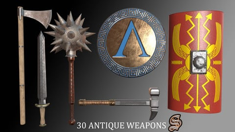 30 ANTIQUE WEAPONS