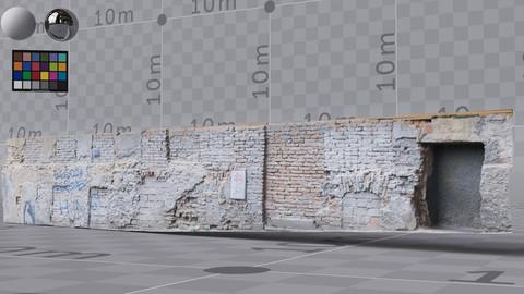 BRICK wall model, high quality, render ready – 7x 4K UDIMS, PBR