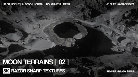 9 x 8K Moon terrains | 02 | PBR