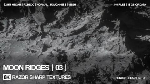 20 x 8K Moon ridges | 03 | PBR
